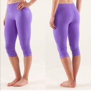 Lululemon In the Flow Purple Crop